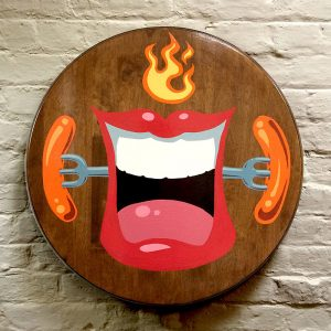 Hot Dawg  Painted wooden tabletop, 2014