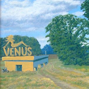 Venus  Oil on charity shop painting, 2010
