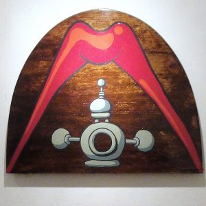 Bet You Didn't See That Coming  Painted wooden tabletop, 2010