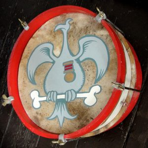 Pompous Circumstance  Painted military drum, 2011